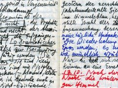 Ausschnitt aus Handkes Notizbuch